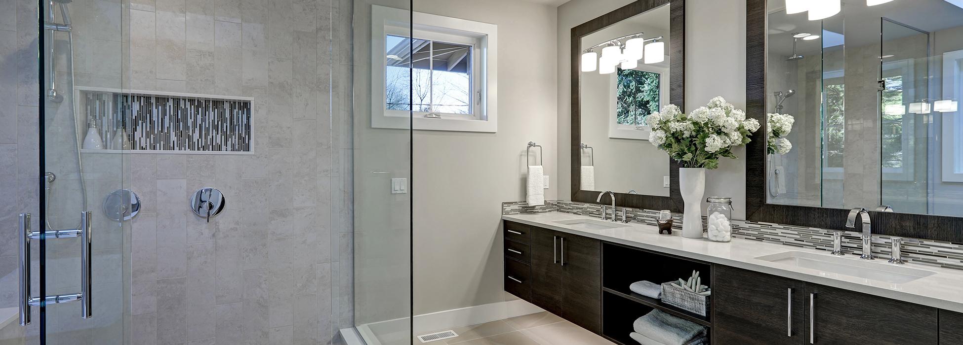 aménagement d'intérieur salle de bains moderne