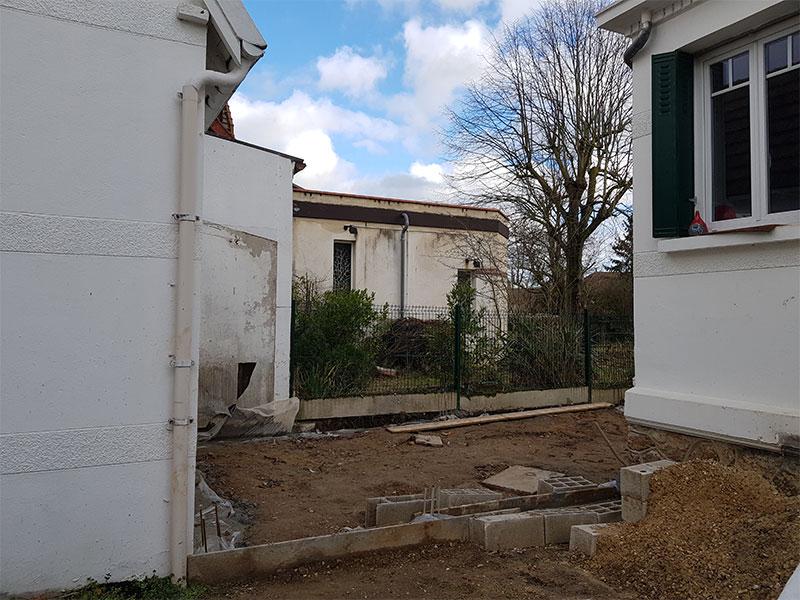 Extension maison avant après Saint André de Seignanx Landes