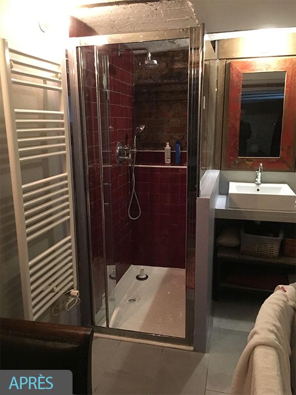 malfaçon- nfiltration renovation salle de bain 40 Landes