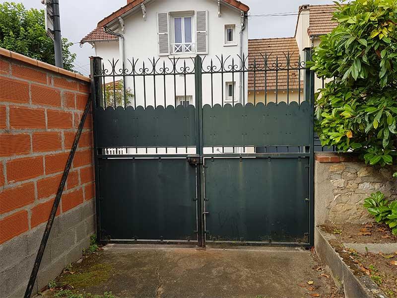Restauration portail de garage à Soustons 40
