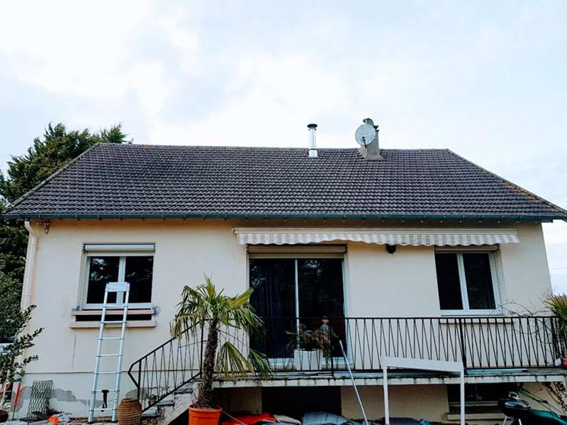 Rénovation toiture avant après couvreur Landes