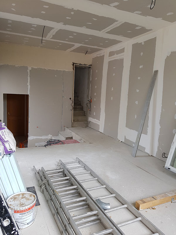 Travaux agrandissement maison et garage à Tarnos 40 Landes