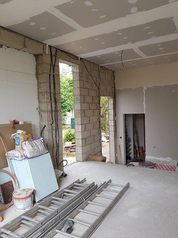 Travaux agrandissement maison à extension maison Saint André de Seignanx 40 Landes
