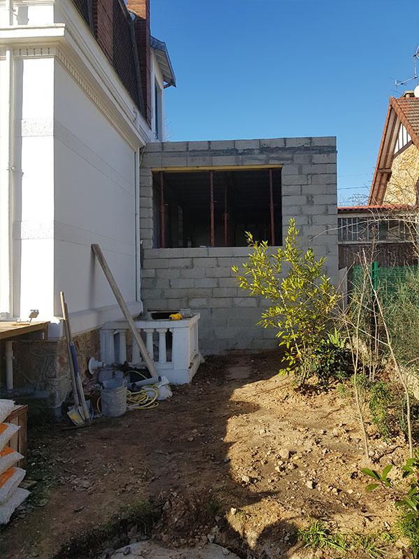 Travaux extension maison garage Tarnos 40