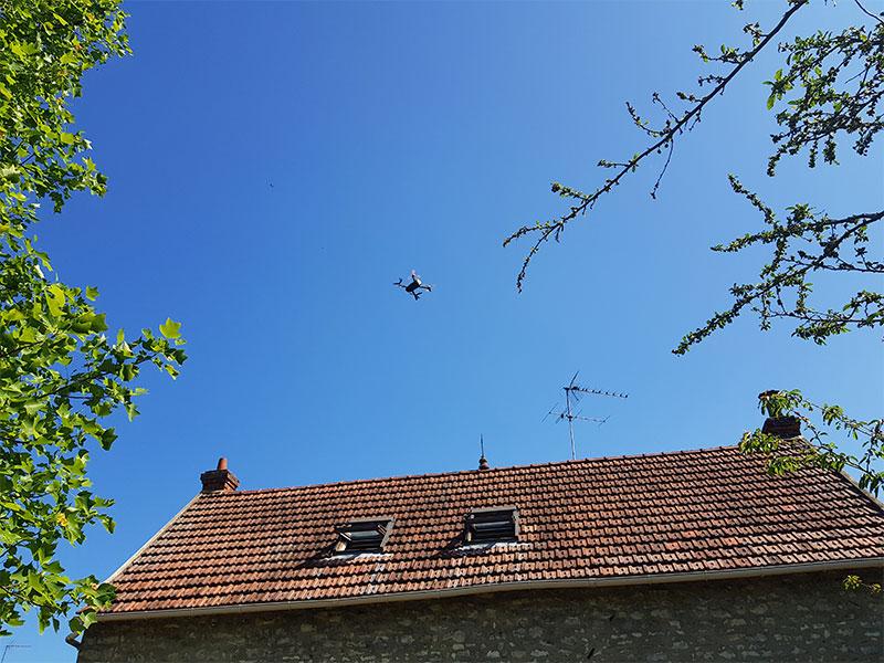 drone inspection toiture landes 40