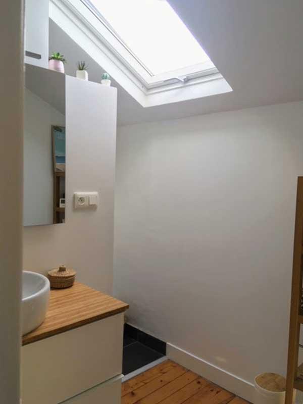 création d'un salle de bain sur mezzanine Landes 40