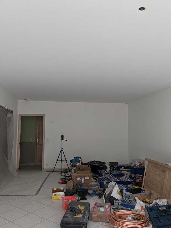 ouverture du plafond rez-de-chaussée à Saubion 40