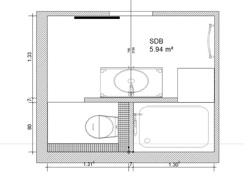 Plan conception salle de bain à Angresse 40 Landes
