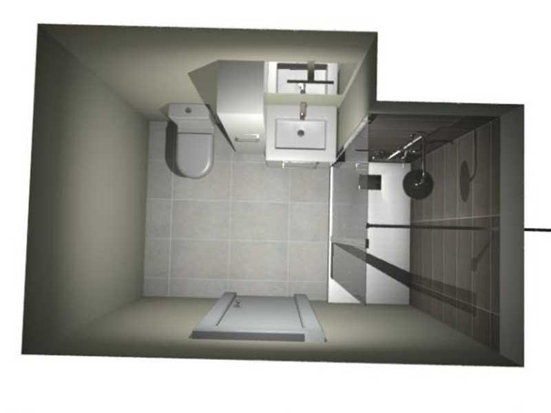 plan 3D rénovation salle de bain à Saint Vicent de Tyrosse 40