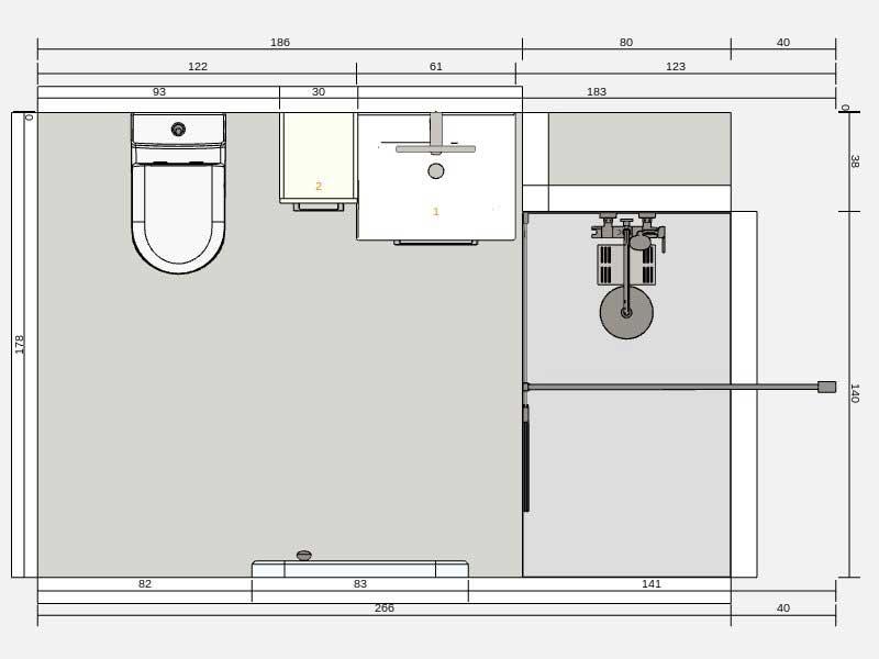 plan rénovation salle de bain à Saint Vicent de Tyrosse 40