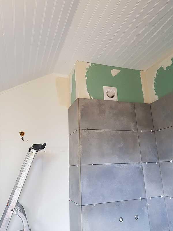 Pose de carrelage faïence salle de bain à Saint Vicent de Tyrosse 40