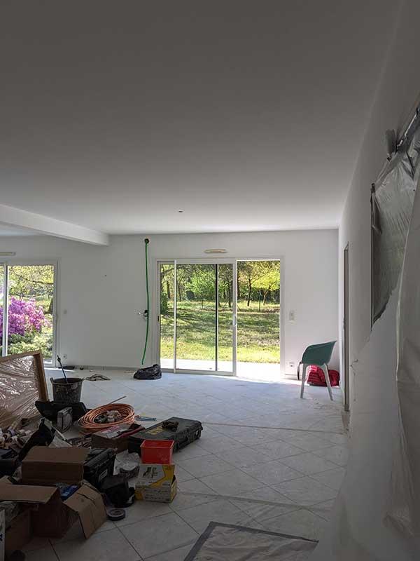 ouverture du plafond et création d'une mezzanine à Saubion 40