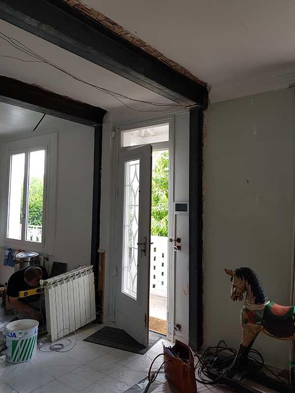 Suppression d'un couloir ouverture mur porteur à Saint Vicent de Tyrosse 40