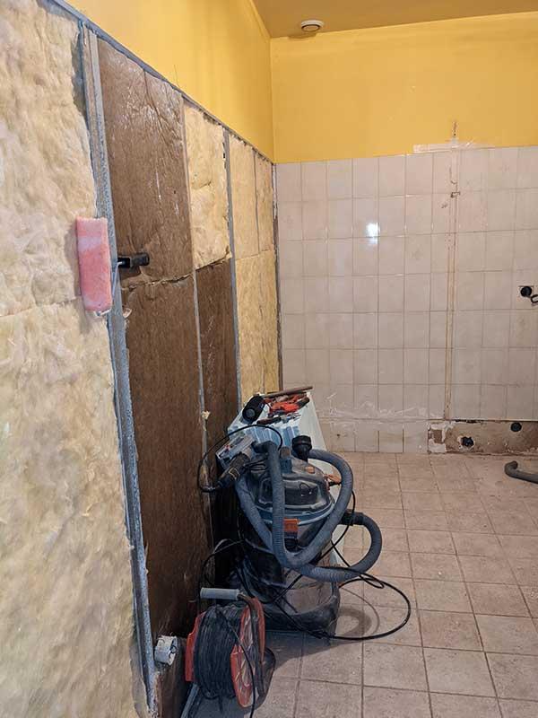 travaux de rénovation d'une buanderie à Messanges 40