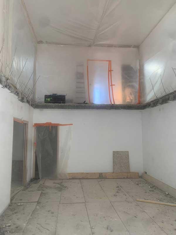 Travaux de rénovation d'une maison à Saubion 40