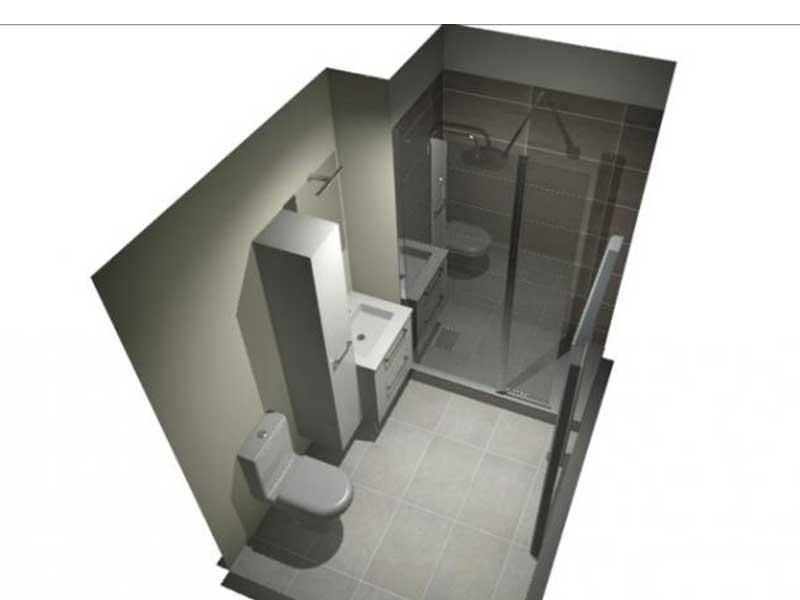 Vue salle de bain 3D à Saint Vicent de Tyrosse 40